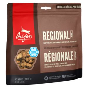"""Orijen, friandises lyophilisées pour chats """"Regional Red"""""""