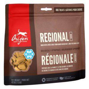 """Orijen, friandises lyophilisées pour chiens """"Regional Red"""""""