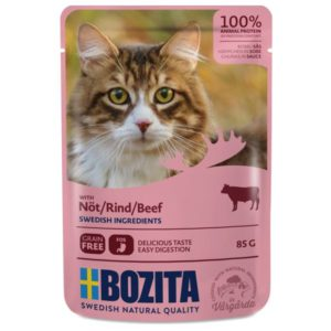 Nourriture humide chats, sachets, Bozita, viande, boeuf