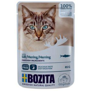 Nourriture humide chats, sachets, Bozita, poisson, hareng