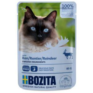 Nourriture humide chats, sachets, Bozita, viande, renne