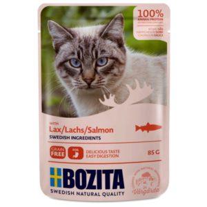Nourriture humide chats, sachets, Bozita, poisson, saumon